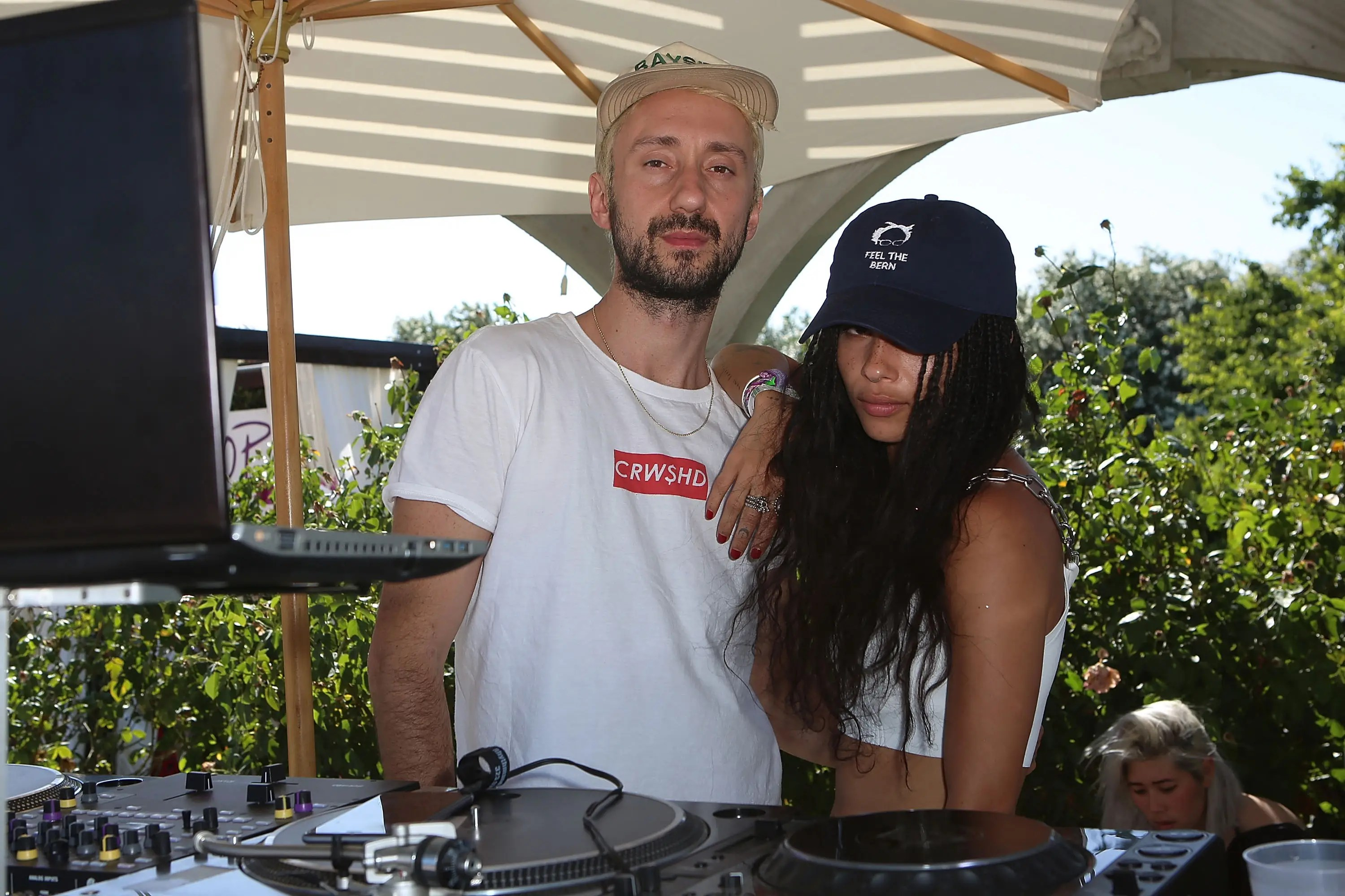 Musician and actress Zoë Isabella Kravitz (daughter of Lenny Kravitz) was behind the DJ booth at REVOLVE Desert House.