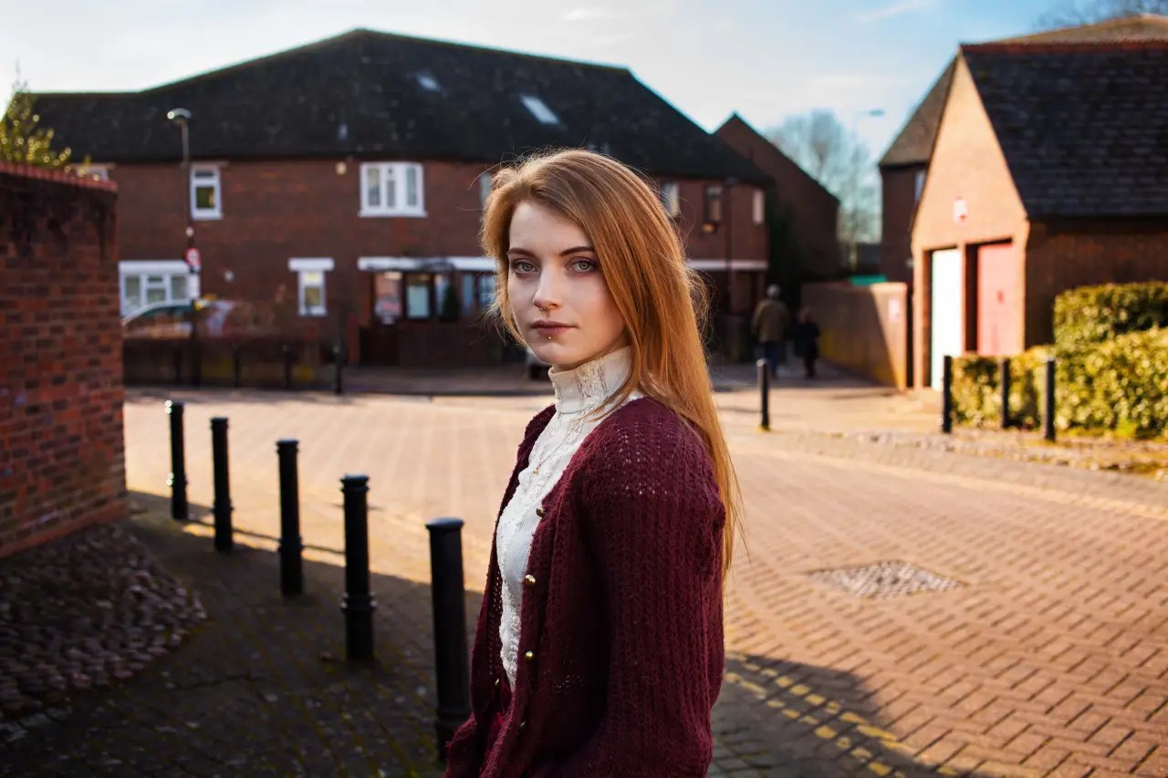 A woman in Oxford, UK.