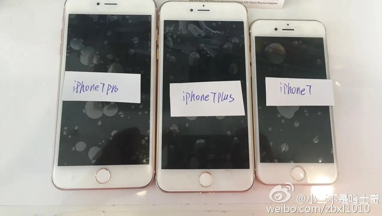 """iPhone7 Pro"", ""iPhone7Plus"" ir ""iPhpne 7"" priekis"