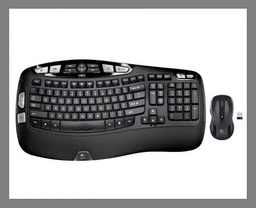 An ergonomic keyboard