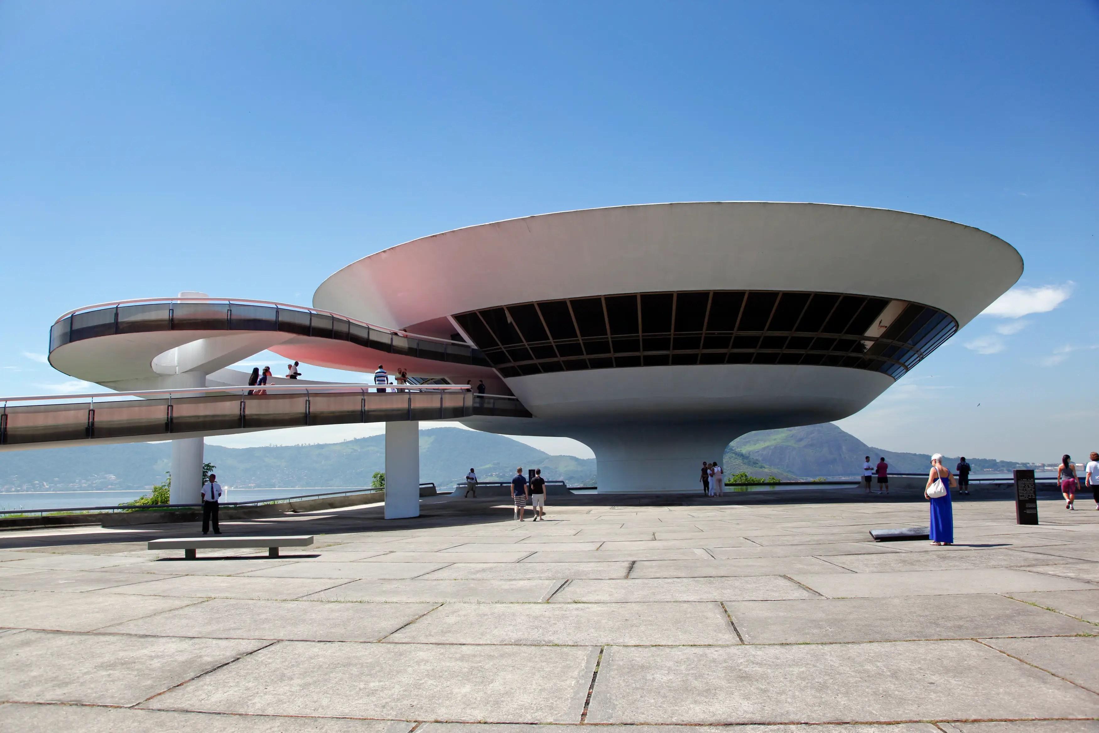 67. The Niteroi Contemporary Art Museum gives impressive panoramic views of Rio de Janiero.