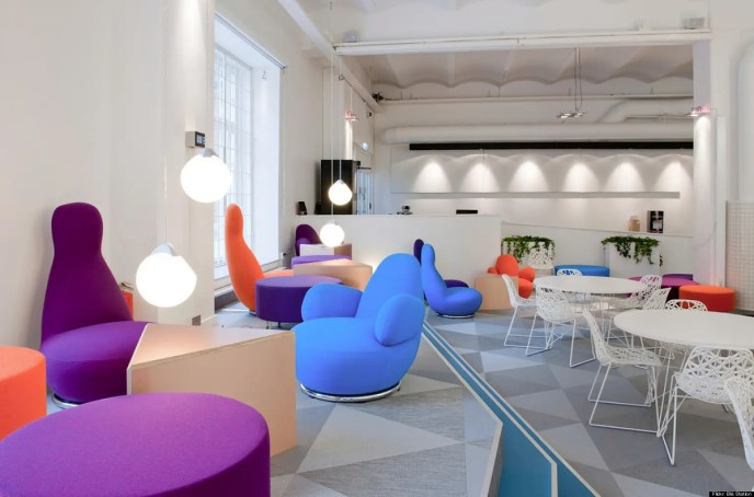 Skype's headquarters in Stockholm look like a cross between Ikea and the inside of a lava lamp. It's no wonder the designs are clean and flawless.