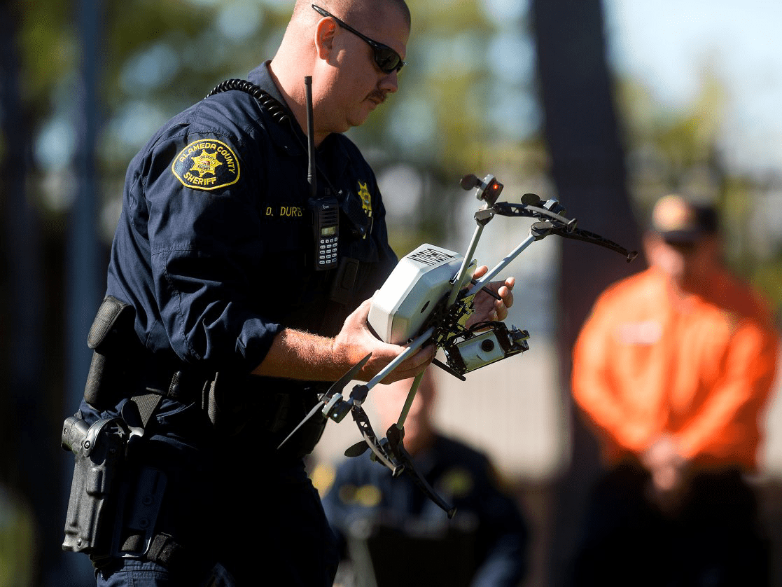 drone with police