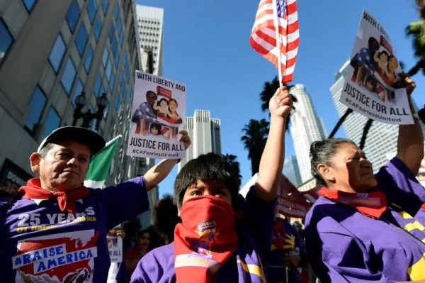 California marchers protest against Trump as Democrats vow ...