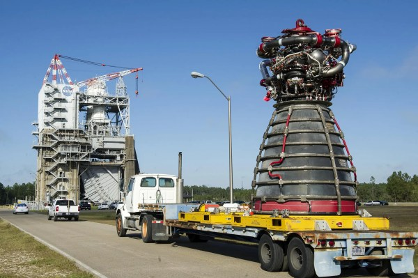 NASA tested a Space Launch System rocket engine at 113% ...