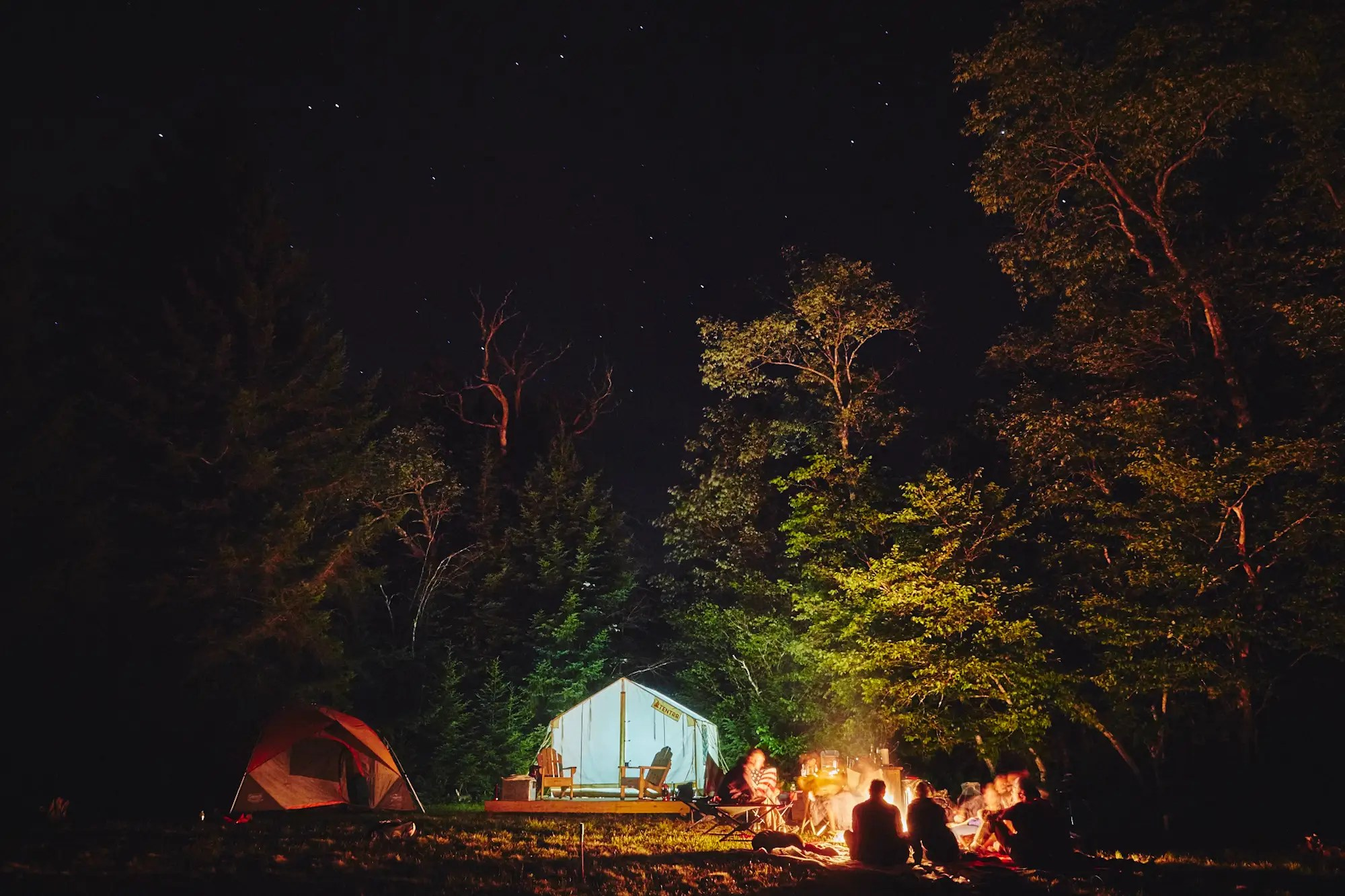 Tentrr has put up campsites at 50 locations in New York state — with another 150 sites in the works. They sit on privately owned land, where guests can relax and recharge in peace.
