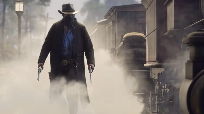 it also means gunslingers and six shooters and bandit masks this isnt just a tale of americas wild west but a tale of cowboys robbers and the evolution of american society - جديد لعبة Red Dead Redemption II 2018