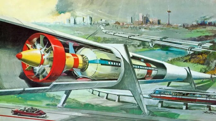 1974 vacuum train sci fi History of the Hyperloop and pneumatic tubes as transportation History of the Hyperloop and pneumatic tubes as transportation 1974 20vacuum 20train 20sci 20fi