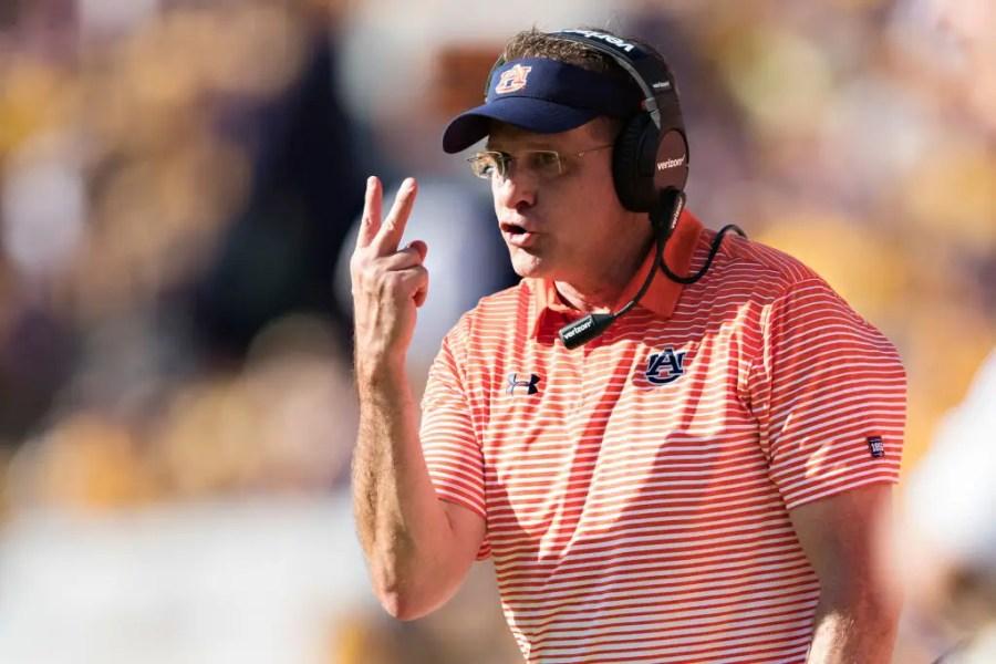 Head Coach Gus Malzahn of the Auburn Tigers