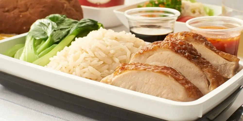 ...Roasted chicken rice, ...
