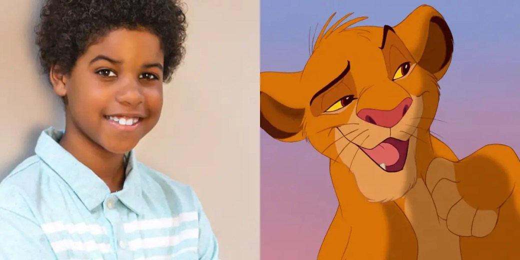 JD McCrary vai expressar o jovem Simba que só quer ser rei.
