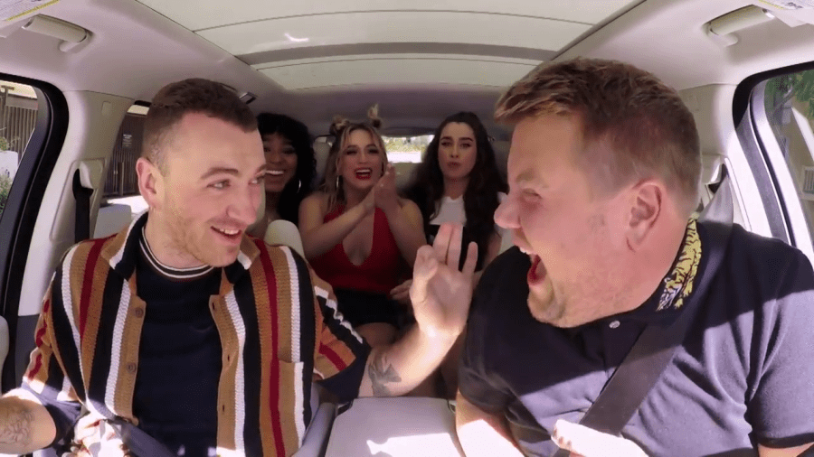 carpool karaoke james corden sam smith fifth harmony