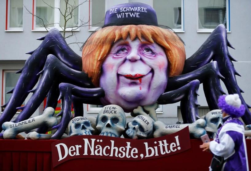 Angela Merkel Dusseldorf