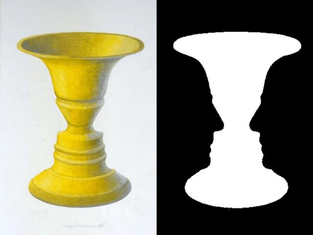 Rubin's vase optical illusion