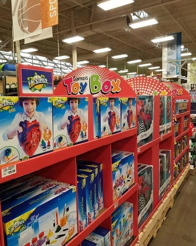 Toys R Us Geoffrey's Toy Box kroger pop up stores