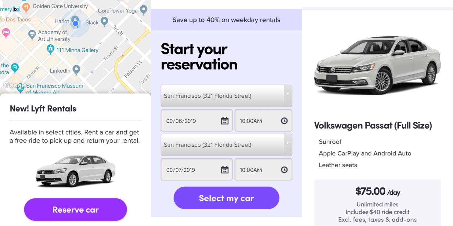 Lyft Car Rental >> Lyft Has Been Quietly Offering A Car Rental Service In 3
