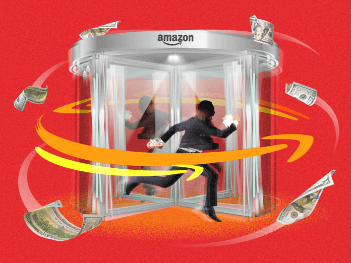 Theres a revolving door at Amazon, where company insiders are ditching the retail behemoth to expose its inner workings and make a fortune
