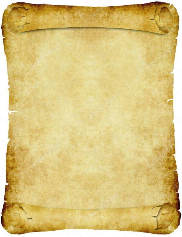 Винтаж пергаментный свиток бумаги — Векторное изображение ...