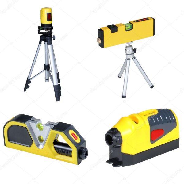 Изолированные лазерный измерительный инструмент — Стоковое ...