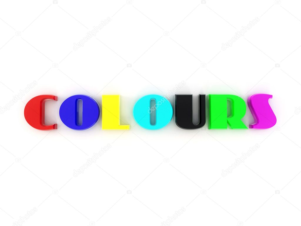 Word Colors From Of The Letters In Different Colors 3d