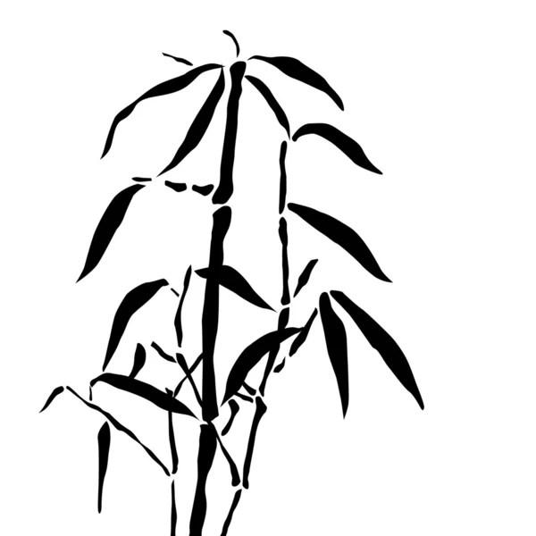 Силуэт чёрного бамбука — Векторное изображение © Dr.PAS ...
