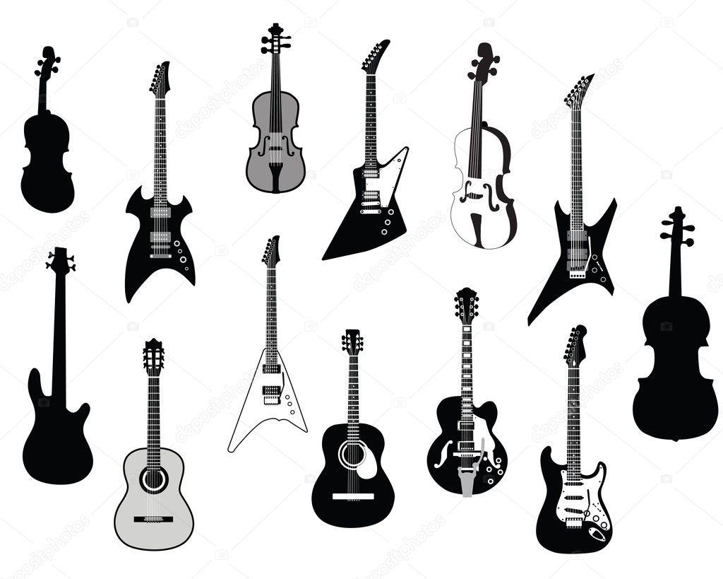 Guitars Silhouettes
