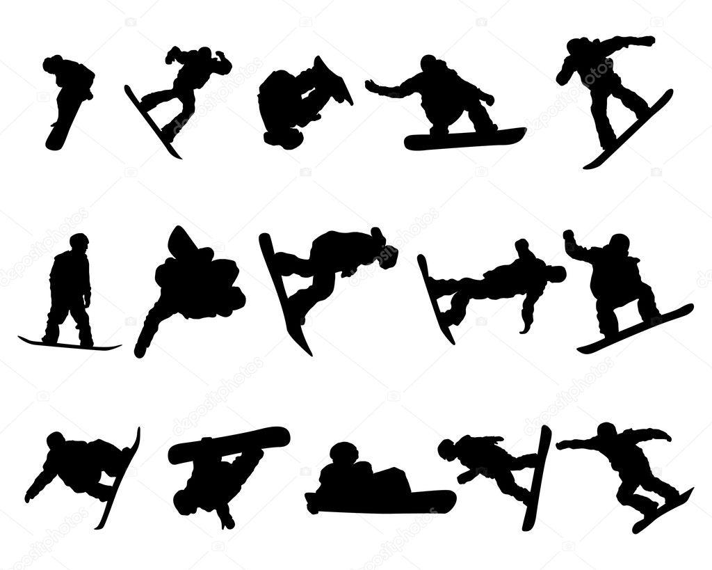 Snowboarde Uomo Sagoma Set
