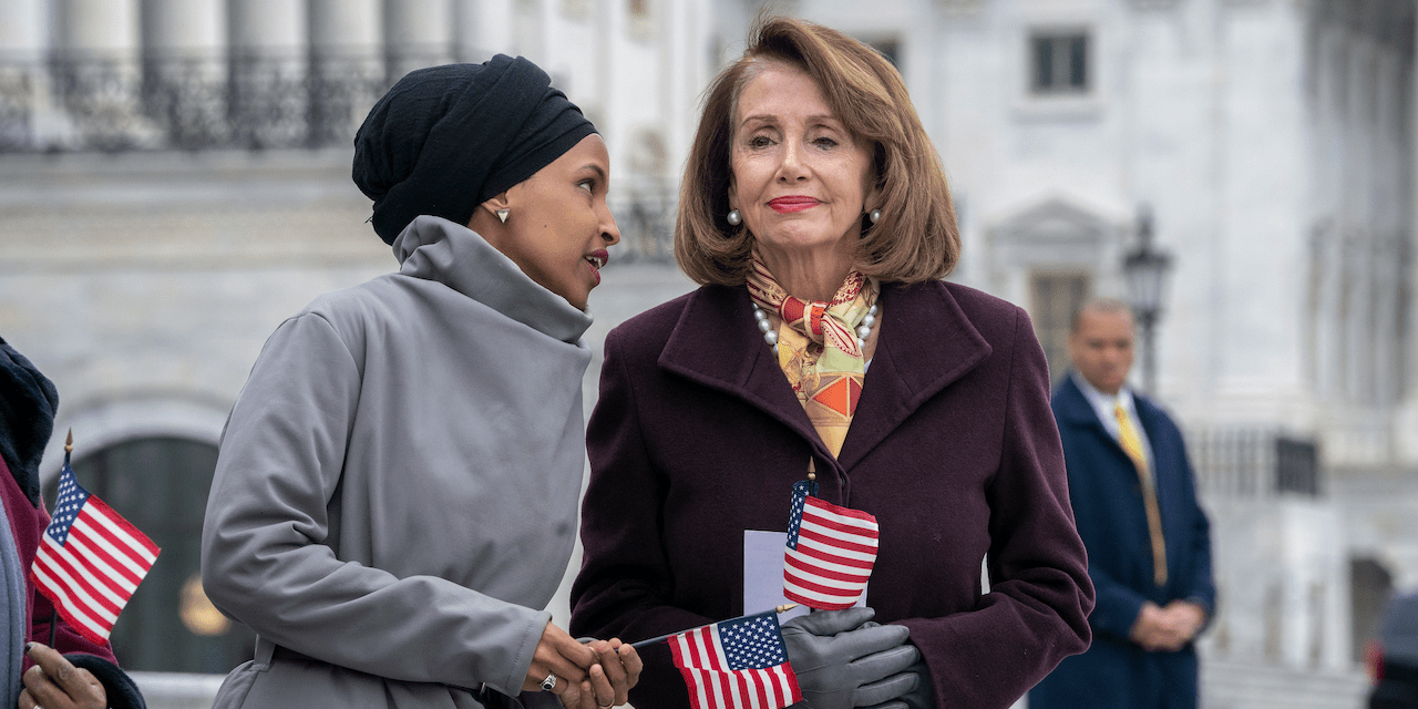 Rep. Ilhan Omar and House Speaker Nancy Pelosi
