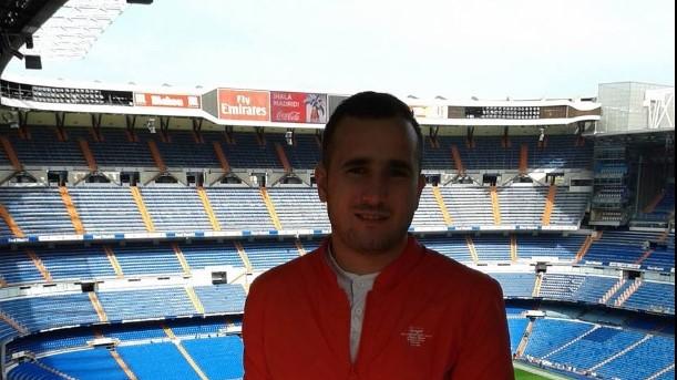 """George Gudană, pe stadionul """"Santiago Bernabeu"""""""