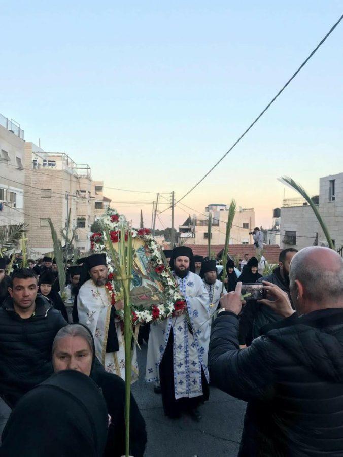 Sute de ortodocși au celebrat Floriile în Ierusalim