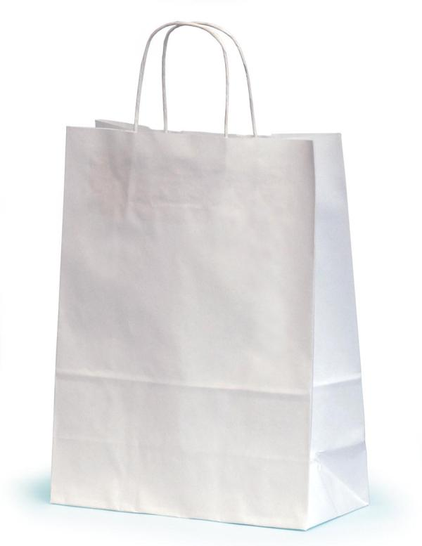 Medium White Paper Gift Bags With Twisted Handles 24 x 11 ...