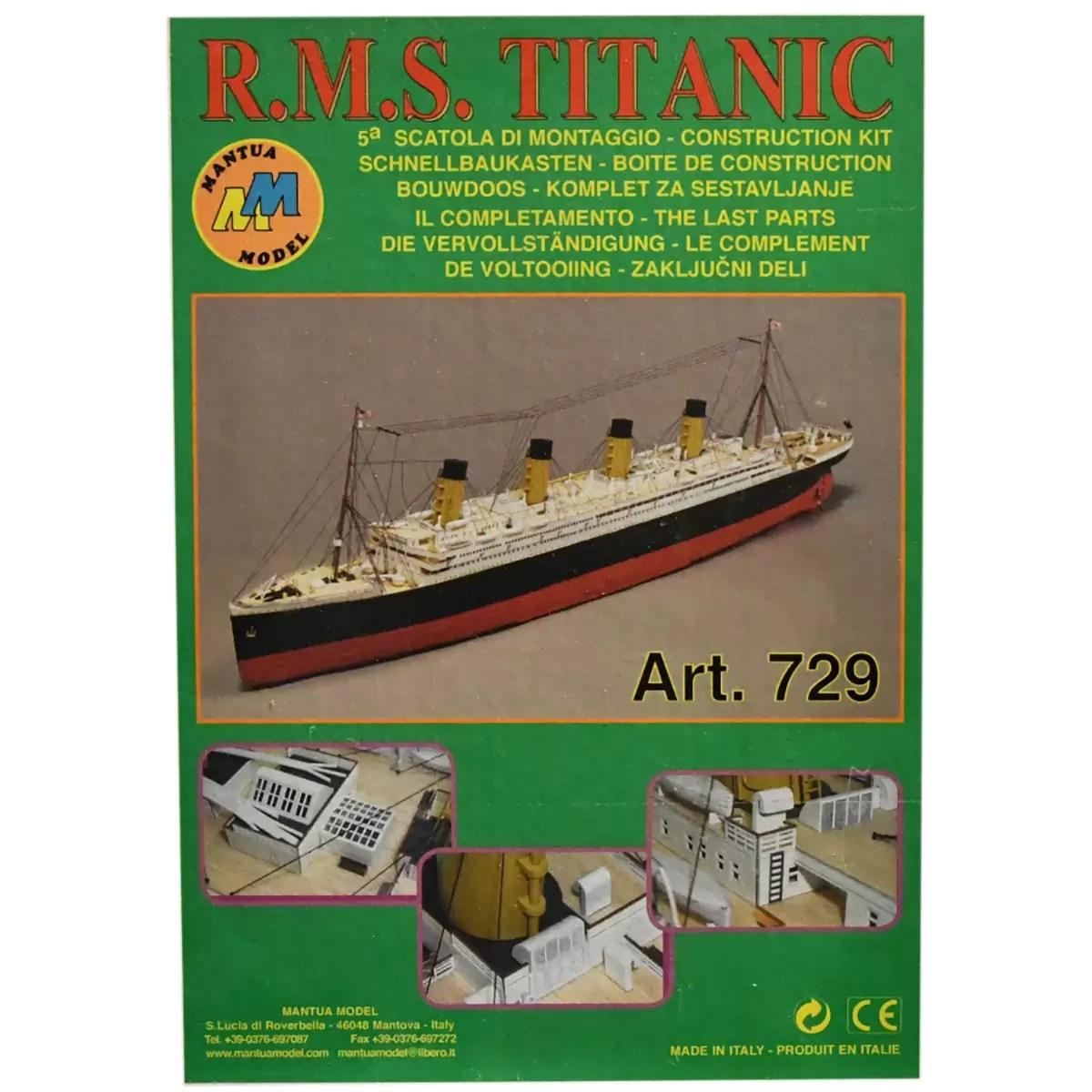 Titanic Kit No.5 hajómakett építőkészlet Mantua