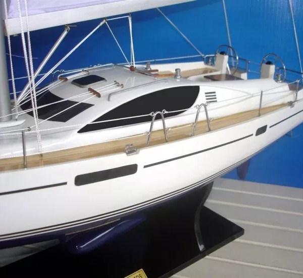 Jeanneau Sun Odyssey 45DS makett L70 Balatoni hajómakett
