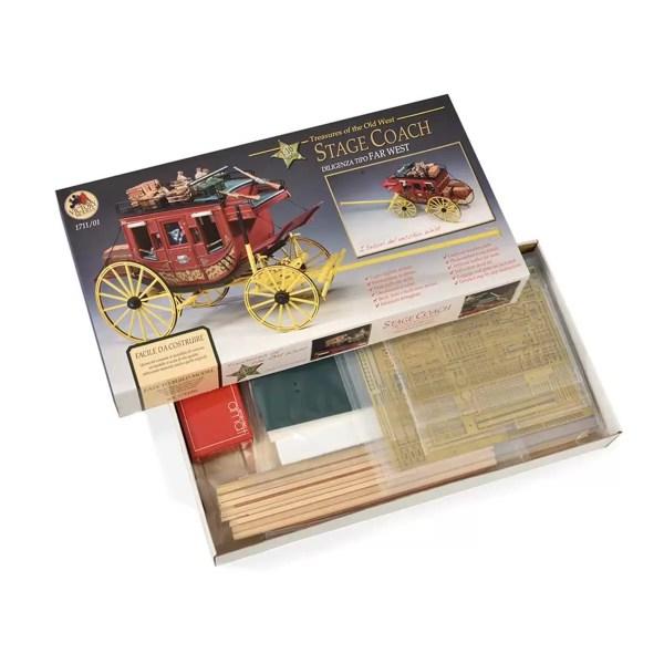 Lovas postakocsi építőkészlet Amati