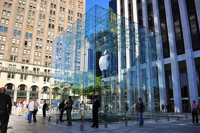 The Apple store in Manhattan on 5th avenue revealed