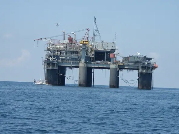 $3.3 BILLION: The Tianjin offshore drilling rig is China's national base for offshore oil development