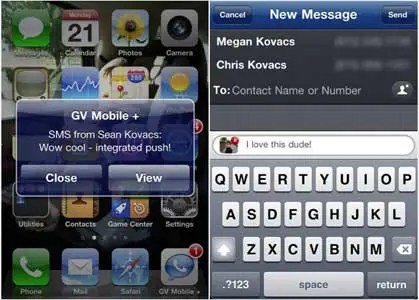 GV Mobile+ is a much better version of Google's Voice app