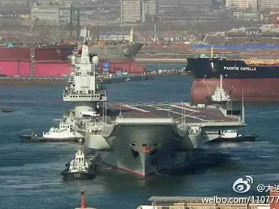 Vivid New Pictures Of China's Aircraft Carrier Putting Out To Sea