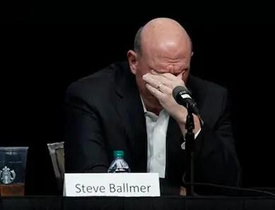 Steve Ballmer facepalm