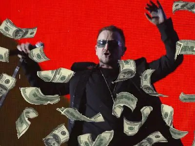 Bono-In-Concert-Money Falling