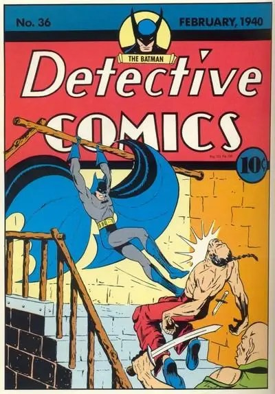 1940: Detective Comic #30 – Batman's outfit is visibly more blue with the addition of longer boots and gloves.