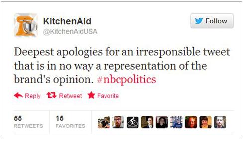 kitchenaid obama tweet grandmother