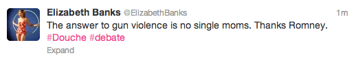 Elizabeth Banks Tweet
