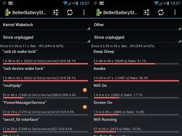 BetterBatteryStats helps you spend more time unplugged.