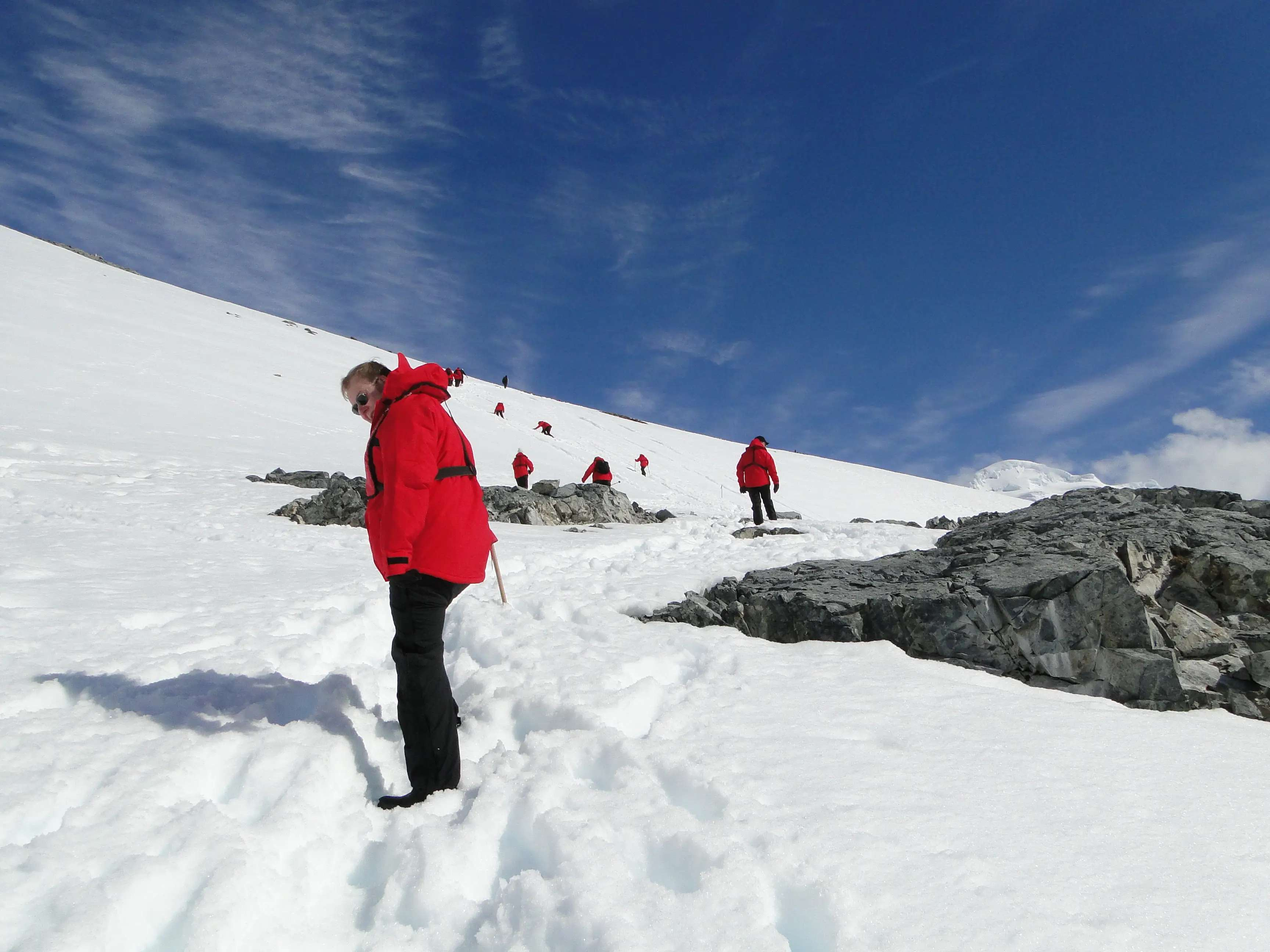 Navigate through icebergs on a cruise to Antarctica.