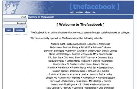 Remember when Facebook was called Thefacebook? It started at Harvard and slowly opened up to other colleges.