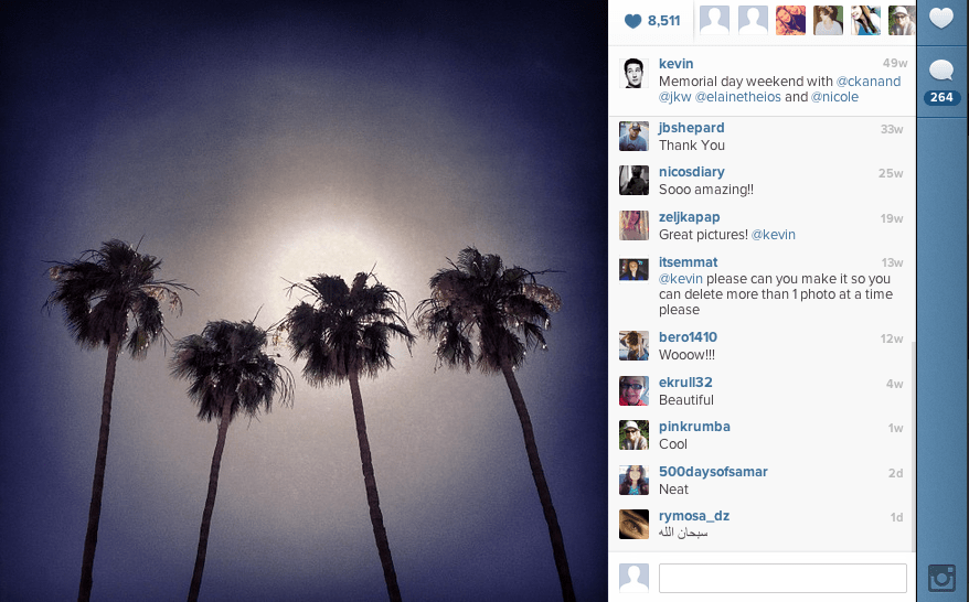 For Memorial Day weekend, Systrom spent time with friends at The Parker in Palm Springs.