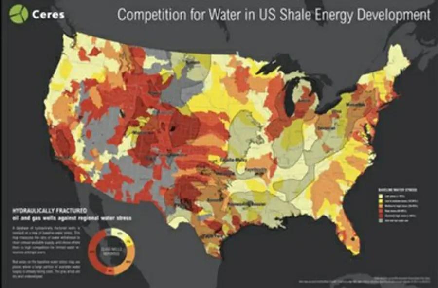Fracking Water Map
