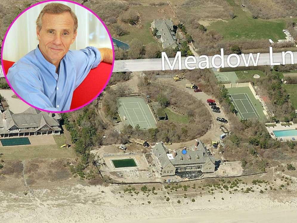 His neighbor is hotelier Ian Schrager ,who bought this 10-bedroom property with tennis court in the '80s. It's currently valued at $19.2 million.
