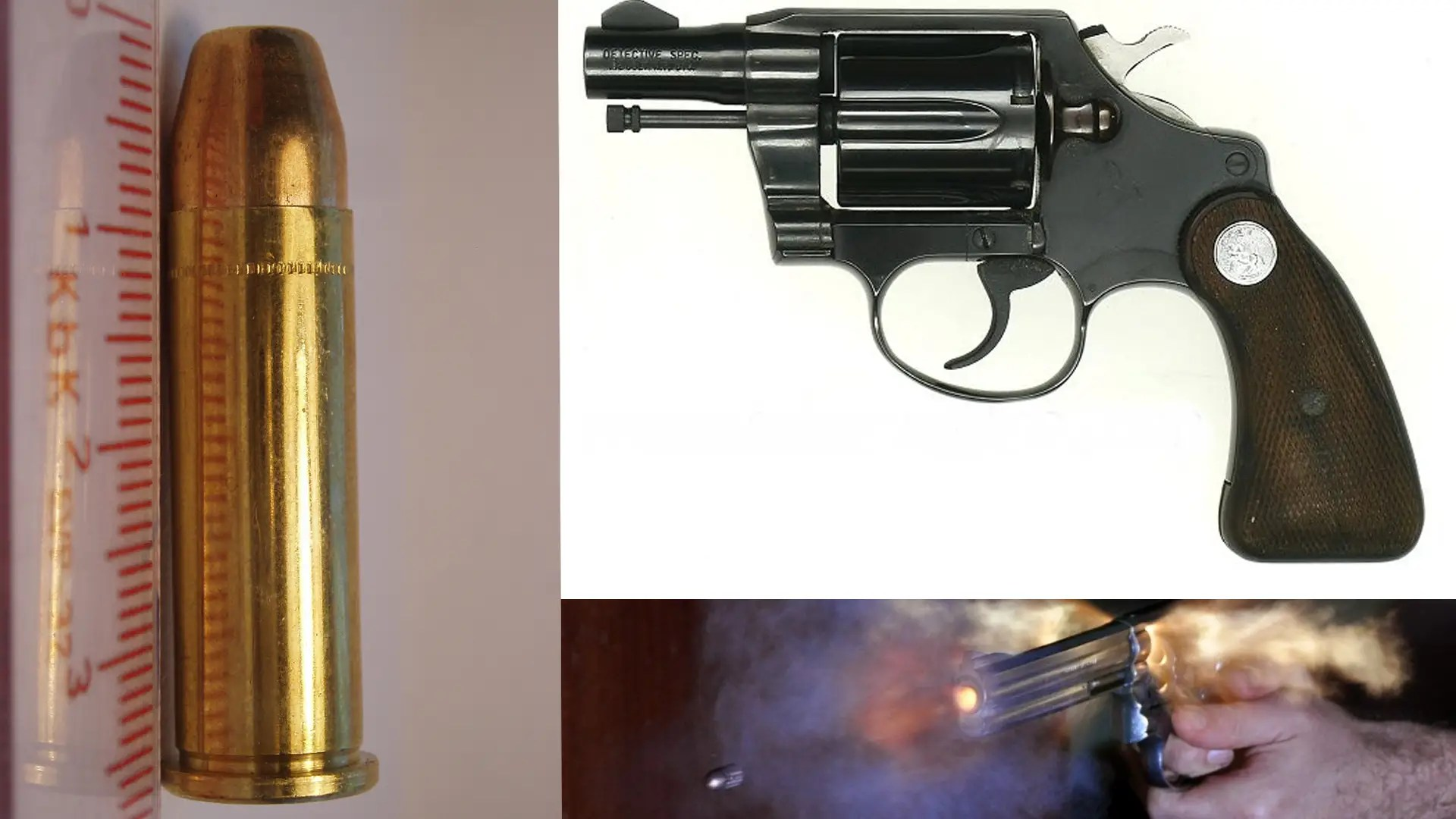 The .38 Special Police Revolver — Unlike early revolvers, which were single action — meaning that pulling the trigger performed only the action of releasing the hammer, and the shooter had to pull the hammer back — the .38 special was double action, meaning it did not have to be cocked.